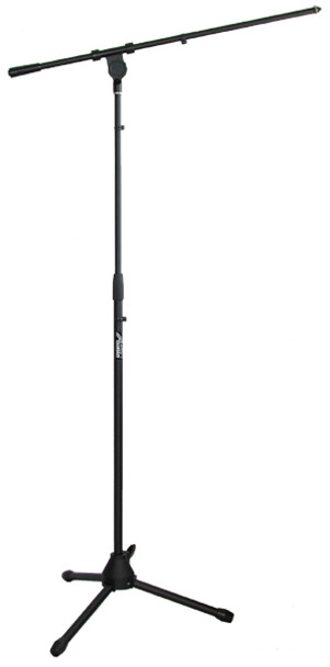 AST4304B Floor Tripod Microphone Stand with Boom - Black