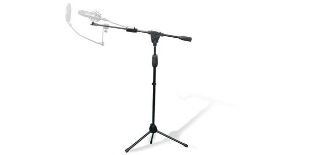 Technical Pro MKST3 Tripod Microphone Stand with Clasp Adjuster