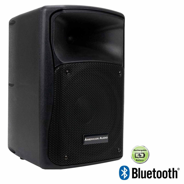 American Audio ELS-GO 8BT Rechargeable Battery Powered Speaker With 8-inch Woofer & Bluetooth