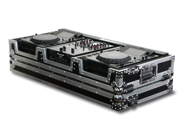 Odyssey FZ10CDJW DJ Coffin with Wheels for 10-inch Mixer and Large Format CD Players