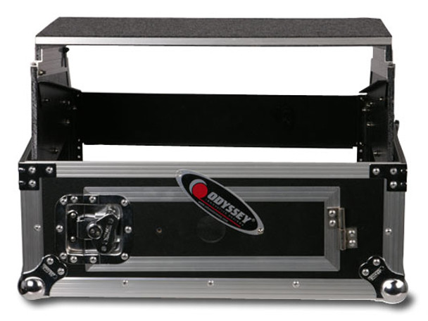 Odyssey FZGS1002 19-inch DJ Mixer Combo Rack Case with Laptop Tray