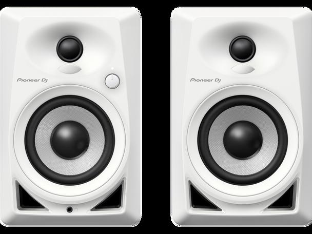 """Pioneer DM-40-W 4"""" Desktop Monitor Speakers (Pair)- White"""