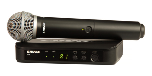 Shure Vocal System with (1) BLX4 Wireless Receiver and (1) Handheld Transmitter with PG58 Microphone