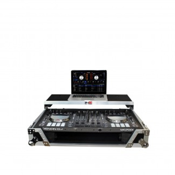 ProX Flight Case for MC-7000 or DDJ-SX2 Controllers with Laptop Stand + Wheels