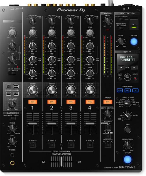 Pioneer DJ DJM-750MK2 4-Channel Professional DJ Mixer