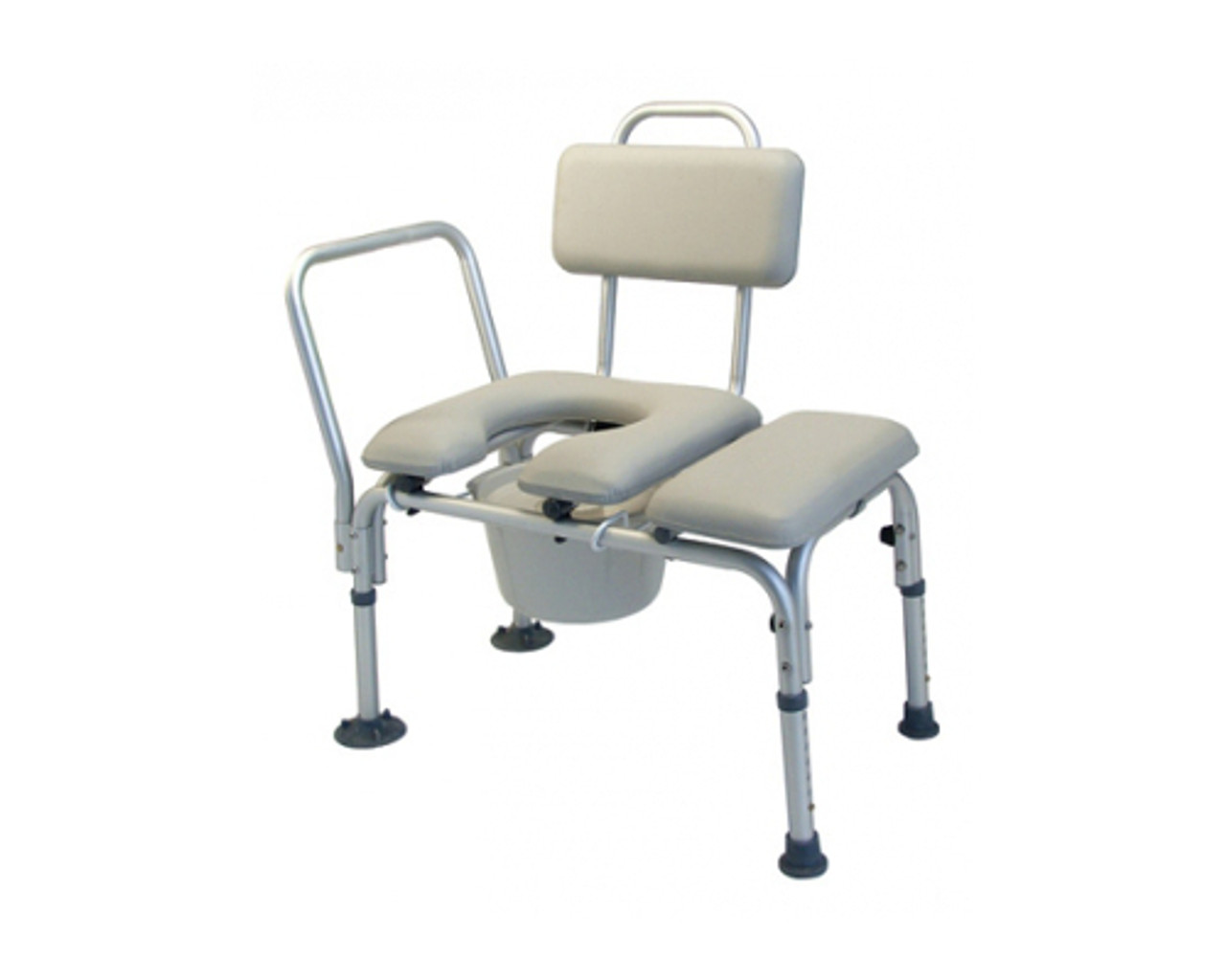 Drive Commode Padded Transfer Bench With Backrest