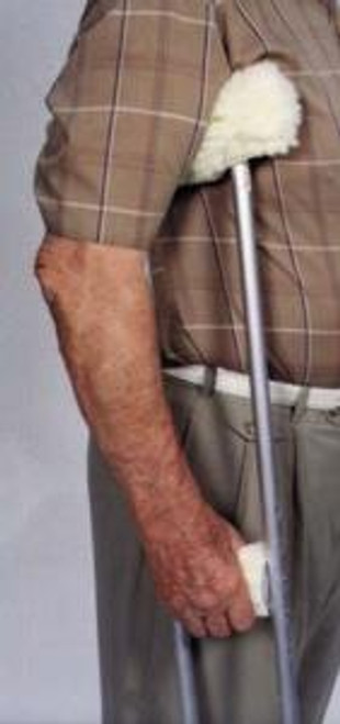 Essential Medical Sheepette Synthetic Lambskin Crutch Covers - Arm and Grip - Image1