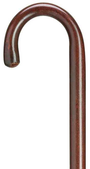 "Harvy Extra Tall 1"" Round Nose Crook Cane - Mahogany"