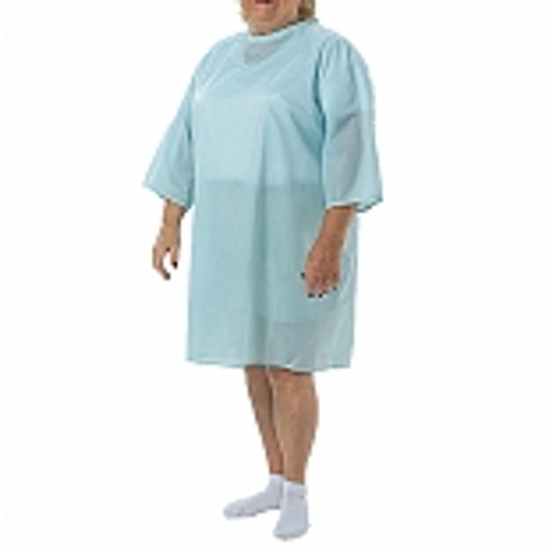 ThermaGown Adult Patient Gown - Light Blue Solid