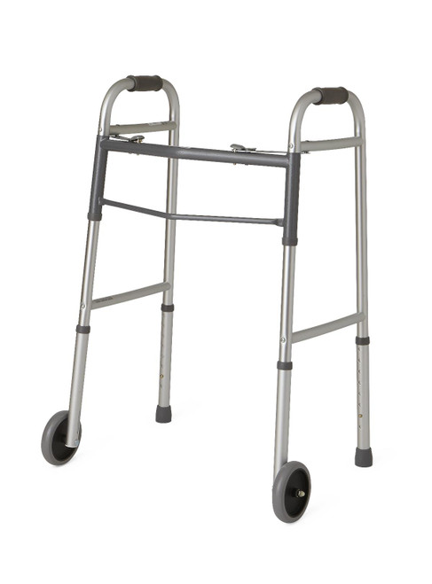 "ACG Medical Supply's Easy-Care Walker for Adult with 5"" Wheels"