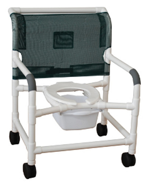 "MJM Bariatric 26"" Shower Chair with Elongated Open Front Seat"