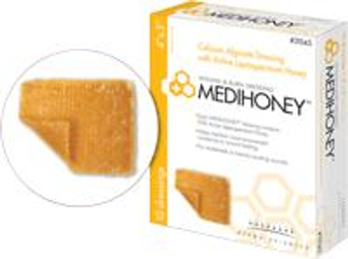 "Derma Sciences Medihoney Calcium Alginate Dressing - 2"" x 2"""
