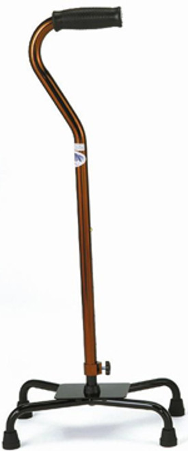 Quad Cane - Large Base - Bronze