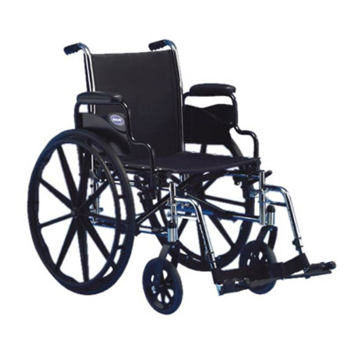 """Invacare Tracer SX5 Wheelchair 18"""" x 16"""" with Flip-Back and Full Length Arm"""