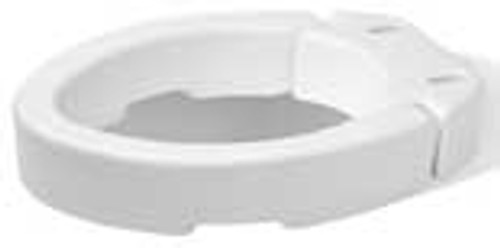 Carex Hinged Elevated Toilet Seat - Elongated