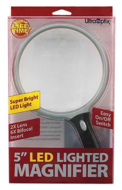 """Lighted Magnifier - 5"""" Round"""