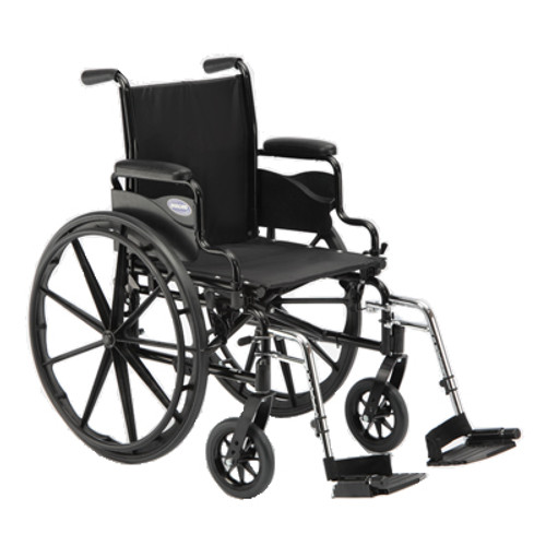 """Invacare 9000 SL Wheelchair - 18"""" x 16"""" with Fixed Height Space-Saver Desk Arm & footrests"""