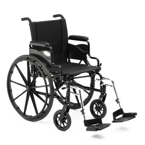"""Invacare 9000 XT Wheelchair - 18"""" x 16"""" with Fixed Height Space-Saver Desk Arm"""