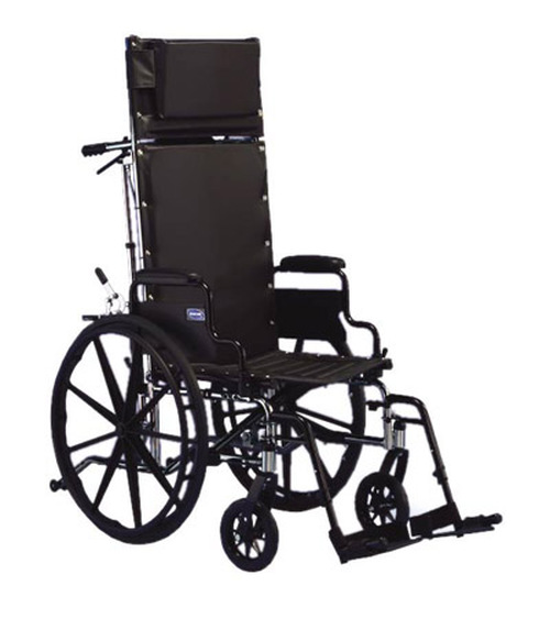 """Invacare 9000 XT Wheelchair - 18"""" x 17"""" with Fixed Height Conventional Desk Arm and Reclining Back"""