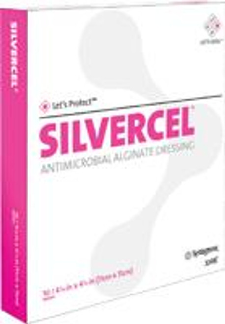 "Systagenix Silvercel Antimicrobial Alginate Dressing - Sterile 4 1/4"" x 4 1/4"""