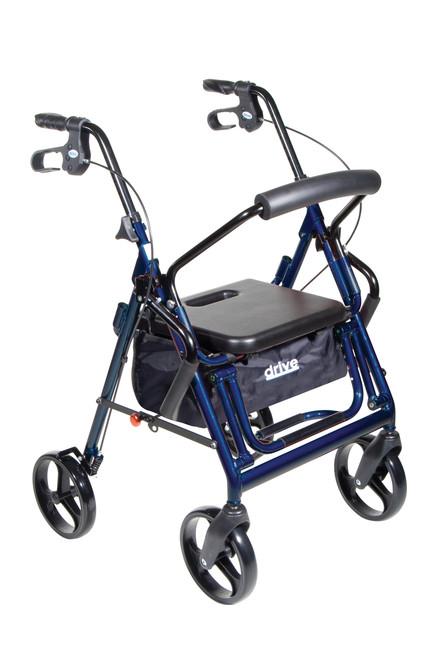 Drive Duet Transport Wheelchair/Rollator Walker - Blue