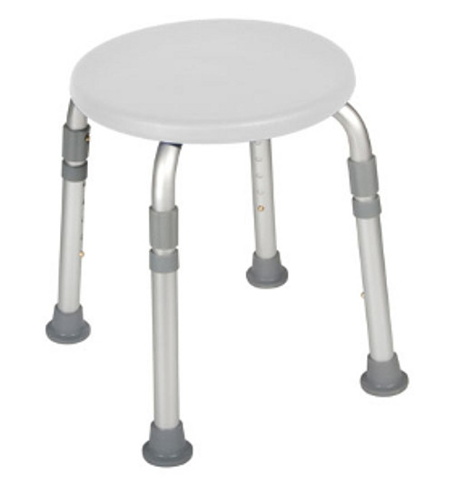 Drive Adjustable Height Bath Stool - White