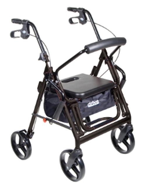 Drive Duet Transport Wheelchair/Rollator Walker - Black