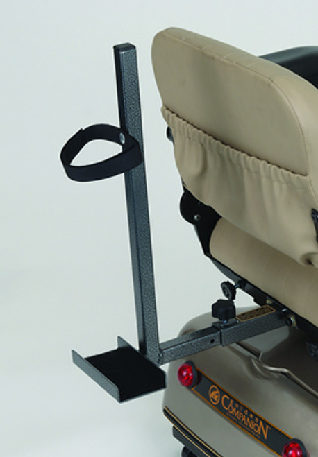 Golden Portable Scooter Quad Cane Holder for Seat