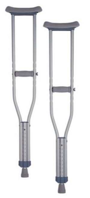 Nova Adjustable Aluminum Crutches - Pediatric