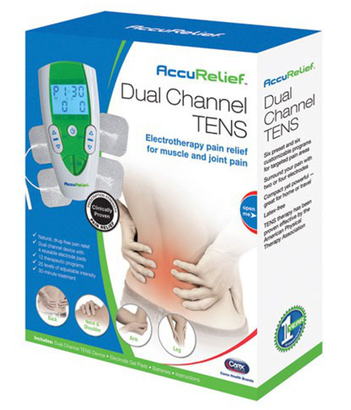 Carex AccuRelief Dual Channel TENS Pain Relief System