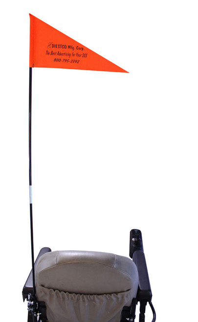 Diestco Folding Safety Flag with mounting hardware
