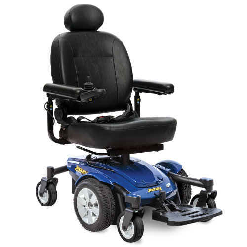 Pride Jazzy Select 6 Power Wheelchair - Blue - MainImage