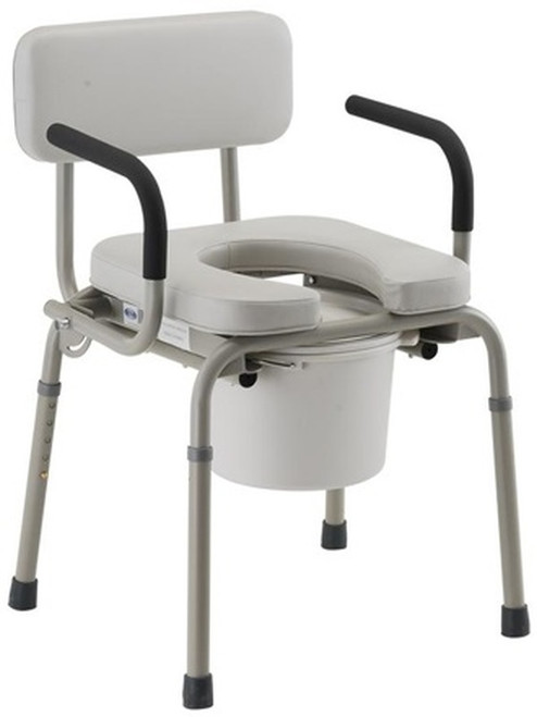 Nova Padded Drop Arm Commode Chair - Main