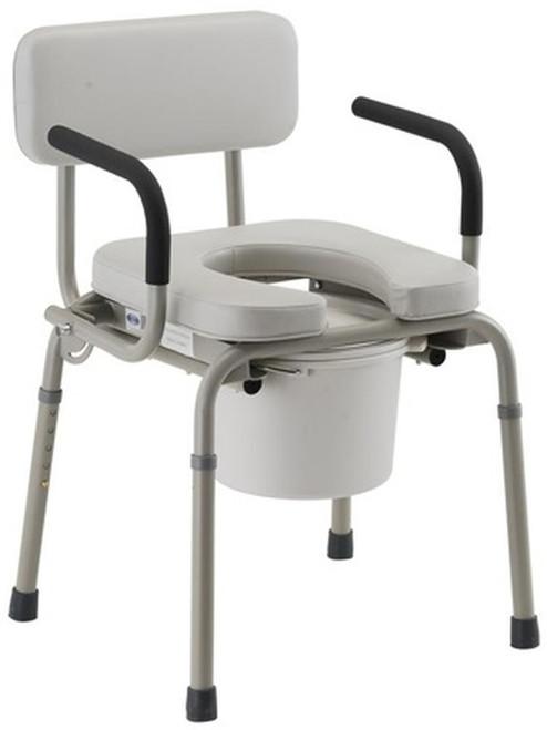 Nova Padded Drop Arm Commode Chair - Main