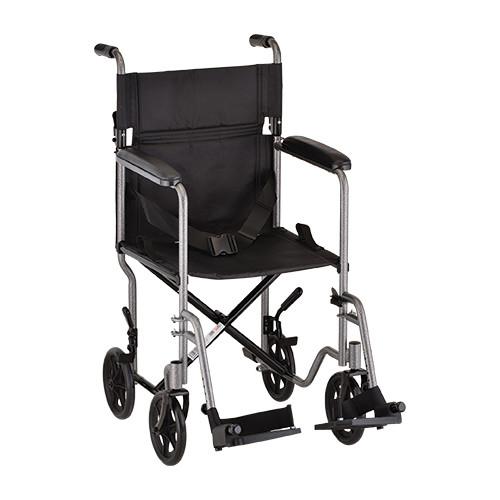 Nova 19″ Carbon Steel Foldable Transport Chair in Hammertone - Main