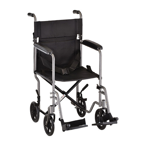 Nova 19″ Carbon Steel Foldable Transport Chair in Hammertone - Main