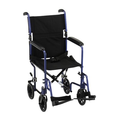 """Nova 19"""" Lightweight Aluminum Frame Foldable Transport Chair - Main - Blue"""