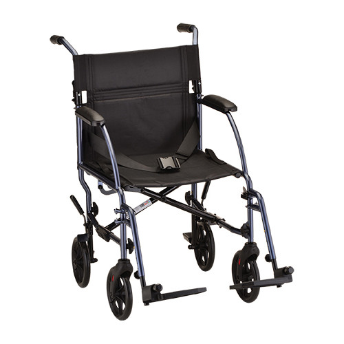 "Nova 18"" Lightweight Aluminum Frame Foldable Transport Chair - Main"