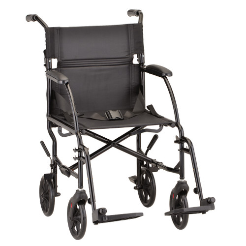 "Nova 18"" Ultra Lightweight Aluminum Frame Foldable Transport Chair - Main - Black"