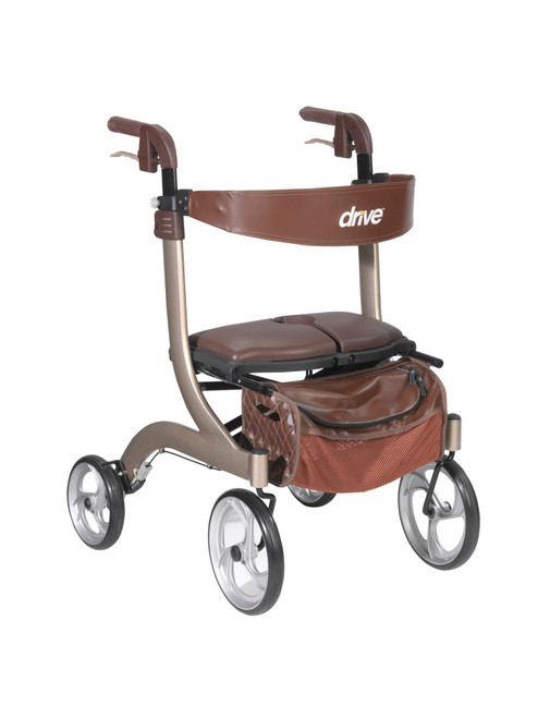 Drive Medical Deluxe Nitro Euro Style Walker Rollator - MainImage - Champagne