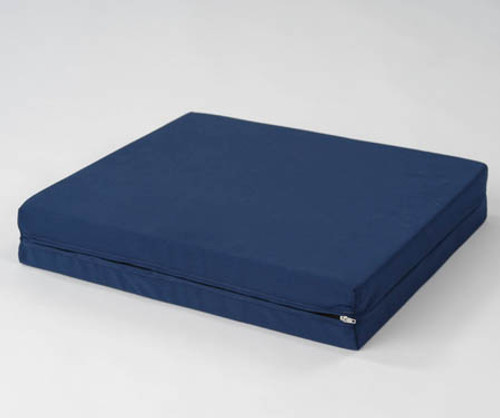 """4"""" Convoluted Wheelchair Cushion with Washable Cover - Navy Blue"""