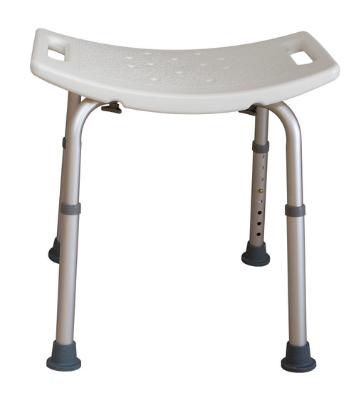 Essential Medical Deluxe Shower Bench in White with Tool Free Assembly  - Without Back