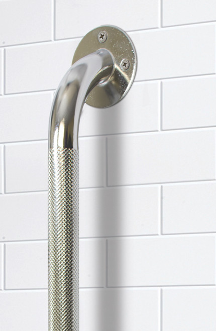 Essential Medical Metal Grab Bar in Chrome - Front