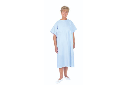 Essential Medical Deluxe Reusable Cloth Patient Gown - Blue