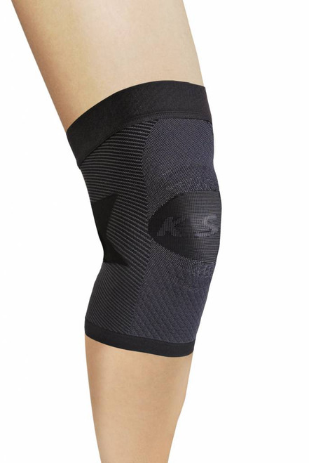 OrthoSleeve Knee Compression Sleeve (Single Sleeve) - Black-MianImage