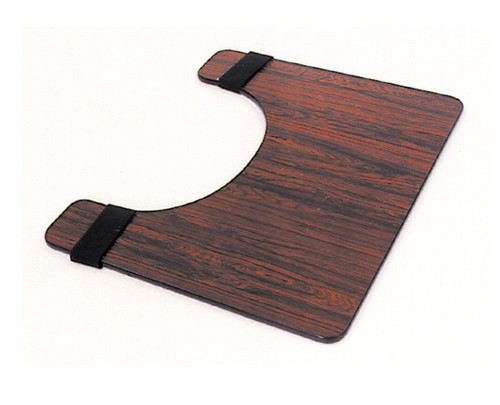Essential Medical Deluxe Wheelchair Tray - Rosewood - MainImage