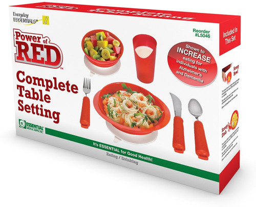 Essential Medical Power of Red Complete Dinner Set - MainImage