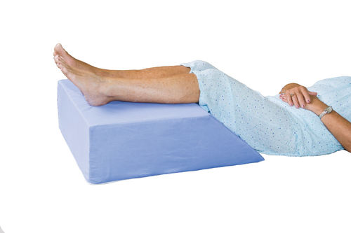 Essential Medical Elevating Leg Support - Blue Cotton/Poly Cover - MainImage