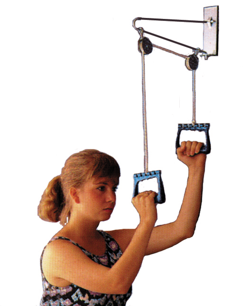 Essential Medical Overdoor Exercise Pulley Set - Image1