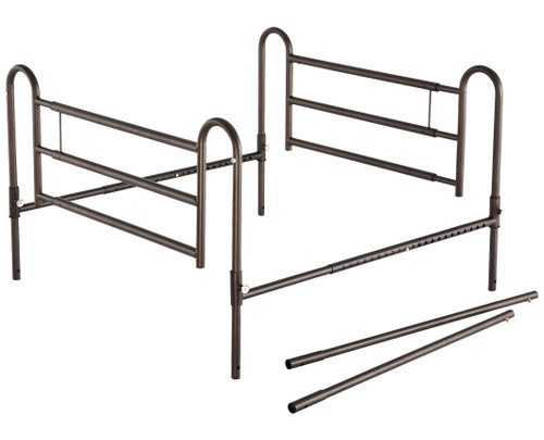 Essential Medical Powder Coated Home Bed Rails with Extender - MainImage